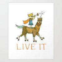Live It Art Print