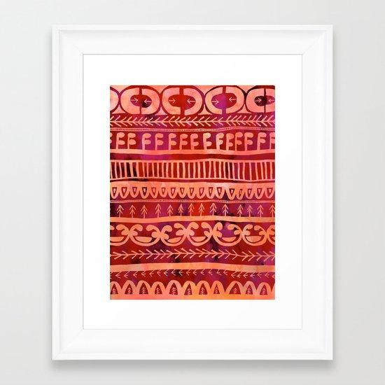 Noni- Orange Framed Art Print