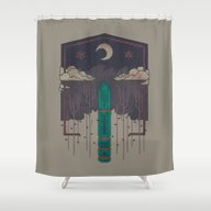 The Lost Obelisk Shower Curtain