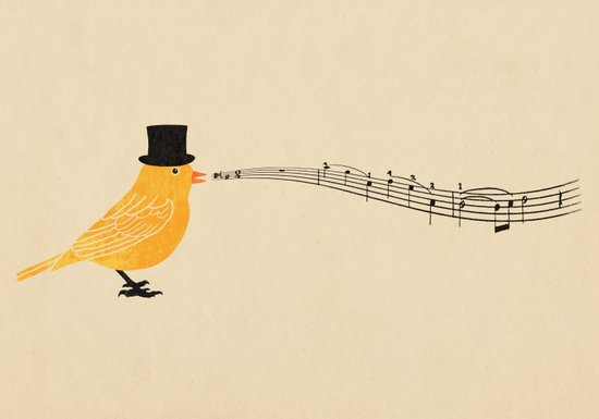 Classical Canary  Art Print