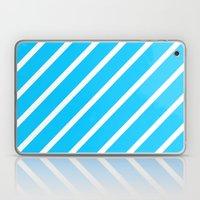 Blue & White Stripes Laptop & iPad Skin
