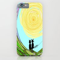 iPhone & iPod Case featuring Kitty Cat Love by RokinRonda