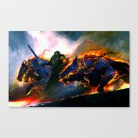 Hellhounds - Painting Style Canvas Print