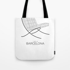 Chairs - A tribute to seats: I'm a Barcelona (poster) Tote Bag
