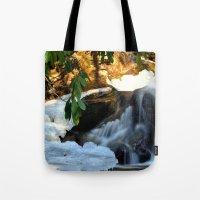 Winter's Rush Tote Bag