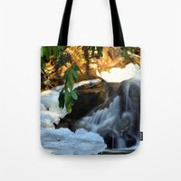 Winter's Rush Tote Bag