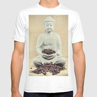 Coffee beans Buddha 3 Mens Fitted Tee White SMALL