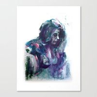 Melancholy Mood Portrait Canvas Print