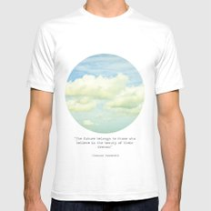 The beauty of the dreams SMALL Mens Fitted Tee White