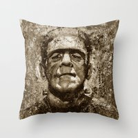 The Creature - Sepia Ver… Throw Pillow
