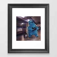 Blue Line Blues Framed Art Print