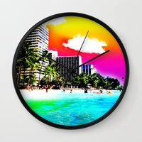 Waikiki Beach Part II Wall Clock