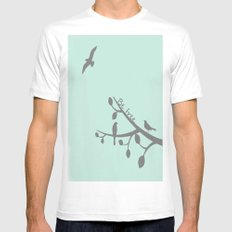 Free as a bird White Mens Fitted Tee SMALL