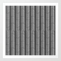 Herringbone Stripe Art Print