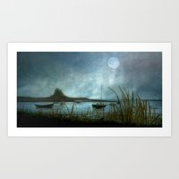 Lindisfarne Moon Art Print
