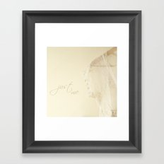 Just me Framed Art Print
