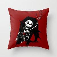Death Of Dracula Throw Pillow