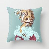 Space Stegosaurus  Throw Pillow