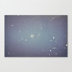 Snow falling down on me Canvas Print