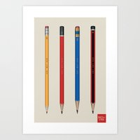 Art not War - Pencils Art Print