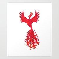 Phoenix Rising - Feng Shui Power Symbol  Art Print