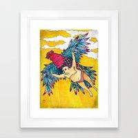 Lazy Tarzan - Flying Framed Art Print