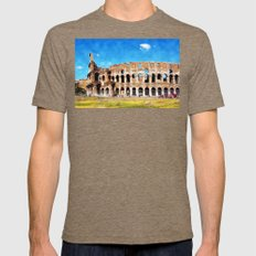 Colosseum Rome Mens Fitted Tee Tri-Coffee SMALL