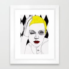 Girl with Yellow Hair Framed Art Print