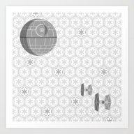 Star Wars Death Star, Ti… Art Print