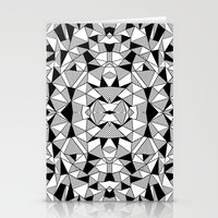 Ab Lines Tile With Black… Stationery Cards