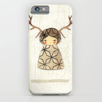 iPhone & iPod Case featuring Deer paperdolls by munieca