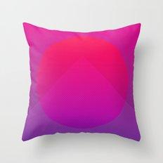 Neon Rise Throw Pillow