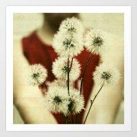 Dandelion Dreams Three Art Print