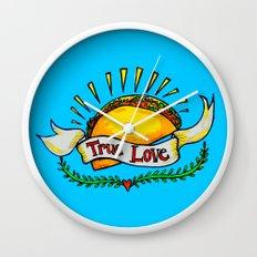 True Love Tacos Wall Clock
