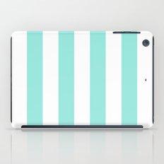 Stripe Tiffany Blue Bold Vertical iPad Case