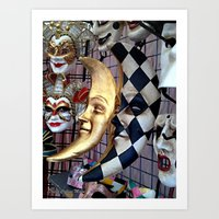 Masquerade4 Art Print