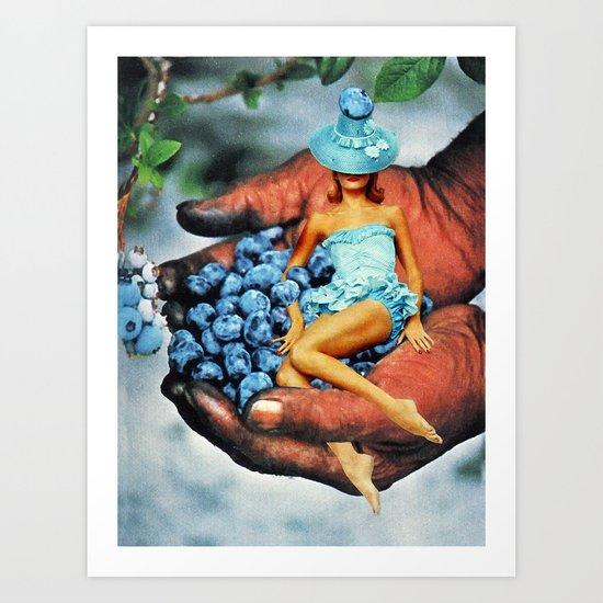 Beach Blanket Blueberry: Blueberry Fairy Art Print By Eugenia Loli