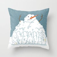 SNOWNED Throw Pillow
