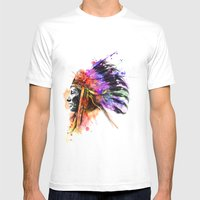 Harmony Apache Mens Fitted Tee White SMALL