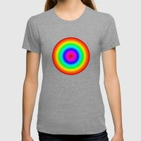 Rainbow Circle Womens Fitted Tee Tri-Grey SMALL