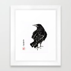 old crow Framed Art Print