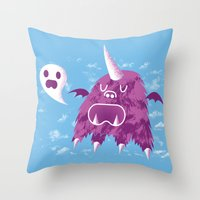 The Unibeast Speaks Something Ghastly Throw Pillow