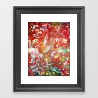Enaustic Galaxy  Framed Art Print