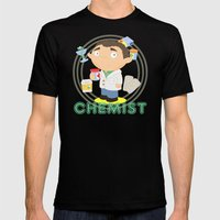 CHEMIST Mens Fitted Tee Black SMALL