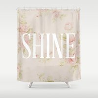 Shine Floral  Shower Curtain