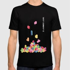 Tetrisometric SMALL Black Mens Fitted Tee