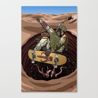 Boba Fett Shreds Canvas Print