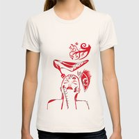 Abstract Woman Womens Fitted Tee Natural SMALL