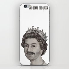 God shave the Queen iPhone & iPod Skin