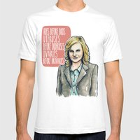 Leslie Knope Mens Fitted Tee White SMALL